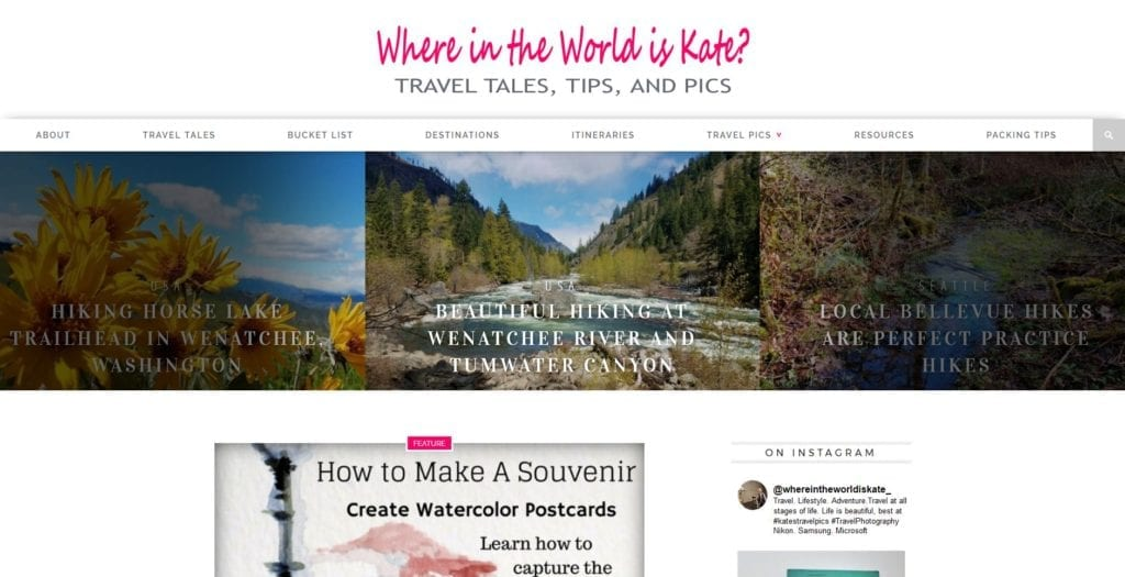 WWK Front Page Top, female travel
